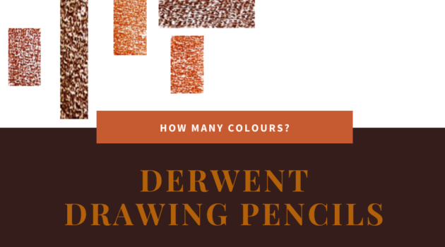Facebook image of six Derwent Drawing colour chips. Text says 'How many colours? Derwent Drawing Pencils. Artnitso.com'..