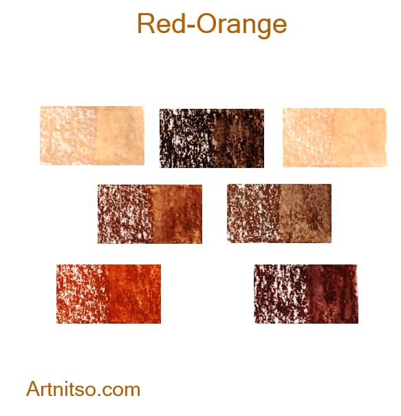 Caran d'Ache Neocolor II Red-Orange - Artnitso.com