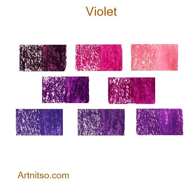 Caran d'Ache Neocolor II Violet - Artnitso.com