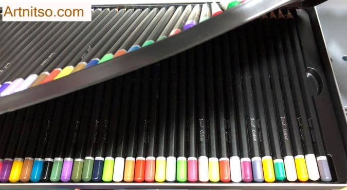 Jasart set of 72 view of second layer of pencils when purchased. Artnitso.com