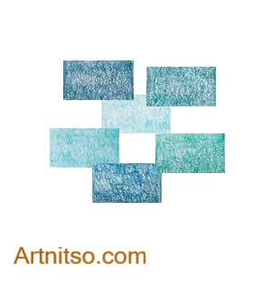 Colour Relationships - Green-Blue Monochromatic Artnitso.com