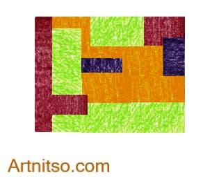 Colour Relationships - Orange-Yellow, Yellow-Green, Blue-Violet, Violet-Red Tetrad Rectangle Artnitso.com