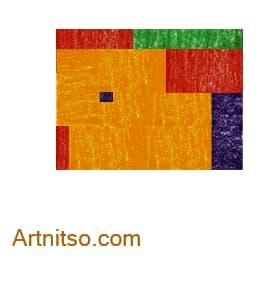 Colour Relationships - Red, Green, Orange-Yellow, Blue-Violet Tetrad Square Artnitso.com