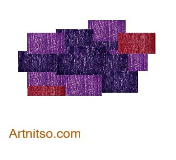 Colour Relationships - Violet-Blue, Violet, Violet-Red Analoguous 3 Artnitso.com