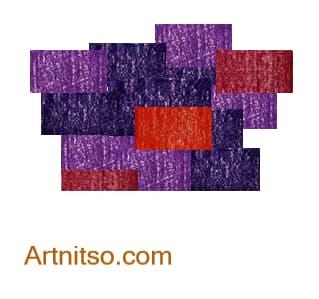 Colour Relationships - Violet-Blue, Violet, Violet-Red, Red Analoguous 4 Artnitso.com