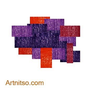 Colour Relationships - Violet-Blue, Violet, Violet-Red, Red, Red-Orange Analoguous 5 Artnitso.com