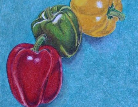 Coloured Pencil 3 peppers Coloured pencils exploration book - artnitso.com
