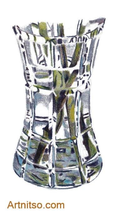 Coloured Pencil glass - artnitso.com