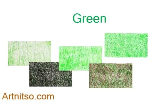 Caran d'Ache Luminance set of 12 green colours. Artnitso.com