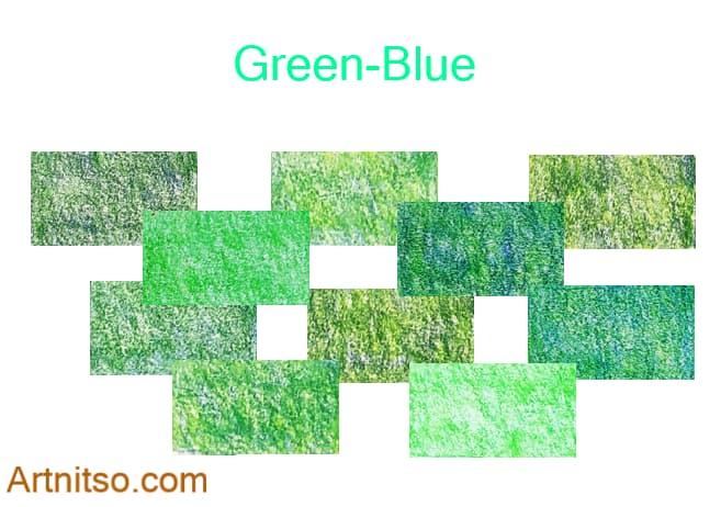 Caran d'Ache Luminance set of 12 green-blue colours. Artnitso.com