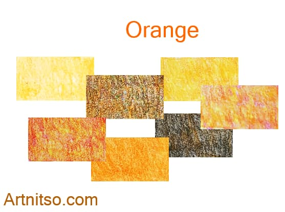 Caran d'Ache Luminance set of 12 orange colours. Artnitso.com