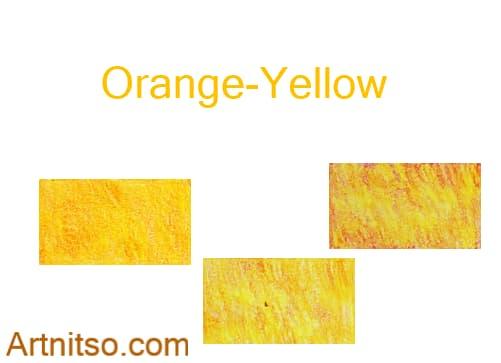 Caran d'Ache Luminance set of 12 Orange-Yellow colours. Artnitso.com