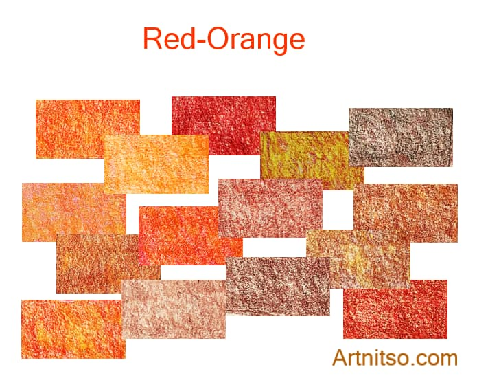 Caran d'Ache Luminance set of 12 red-orange colours. Artnitso.com