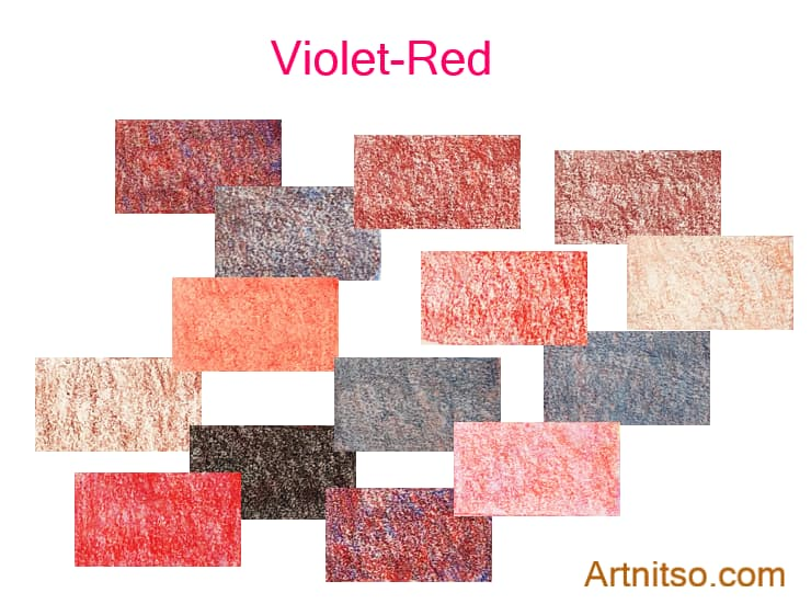 Caran d'Ache Luminance set of 12 Violet-Red colours. Artnitso.com