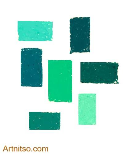 Caran d'Ache Neopastel Green-Blue Artnitso.com