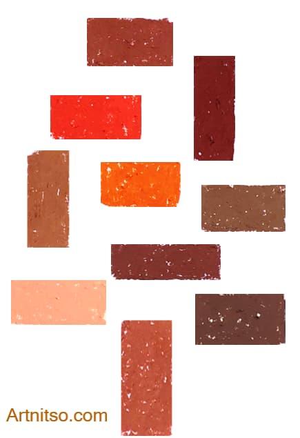 Caran d'Ache Neopastel Red-Orange Artnitso.com