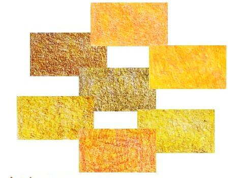 Prismacolor Premier set of 12 orange-yellow colour recipes Artnitso.com