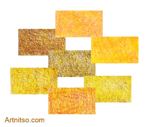 Prismacolor Premier set of 12 orange-yellow colour recipes Artnitso.com