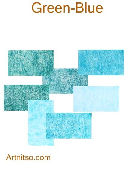 Caran d'Ache Pablo - Green-Blue - Artnitso.com