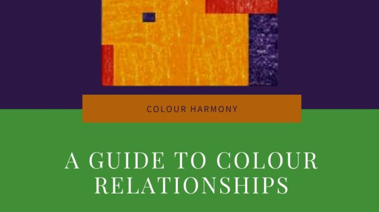 Facebook image Text says - Colour harmony - a guide to colour relationships - Artnitso.com