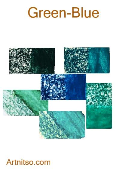 Derwent Inktense - Green-Blue - Artnitso.com