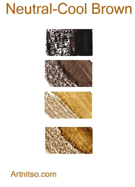 Derwent Inktense - Neutral-Cool Brown - Artnitso.com