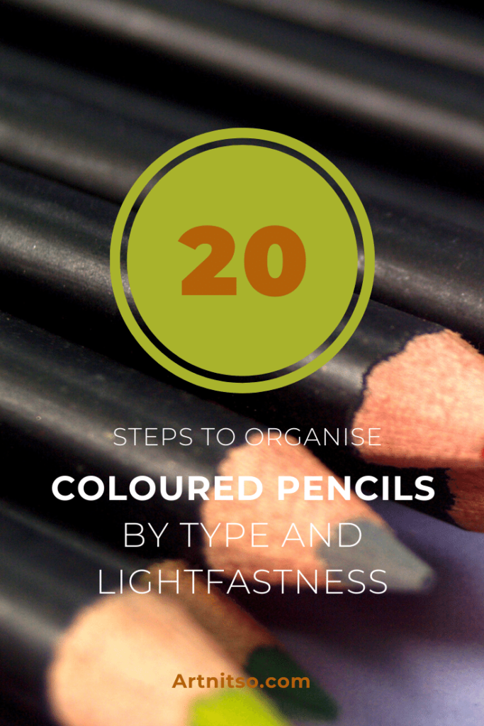 Online course - 20 steps to organise your coloured pencils by type and lightfastness