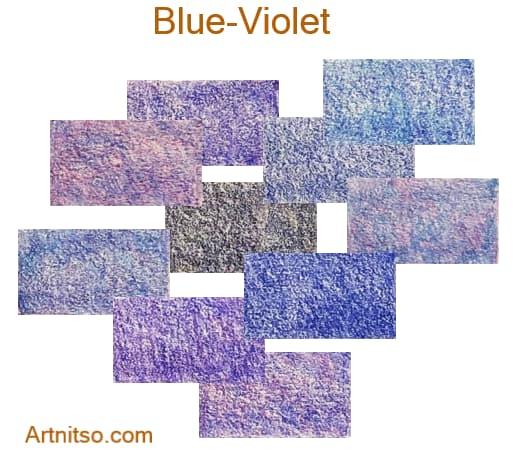 Caran d'Ache Pablo 12 144 Blue-Violet - Artnitso.com
