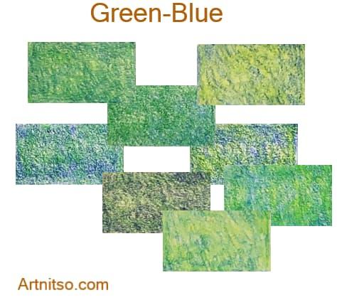 Caran d'Ache Pablo 12 144 Green-Blue - Artnitso.com