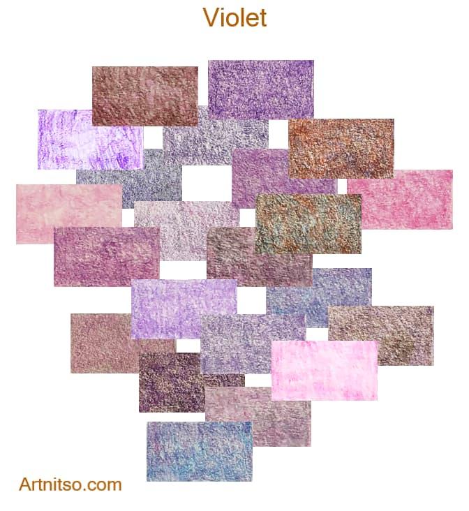 Caran d'Ache Pablo 12 144 Violet - Artnitso.com