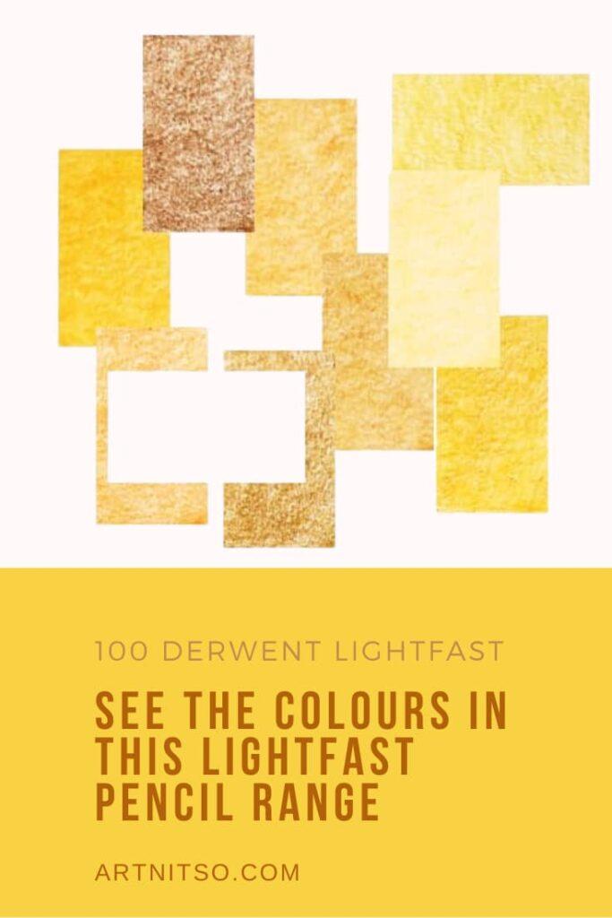 Derwent Lightfast interactive colour chart Pinterest image