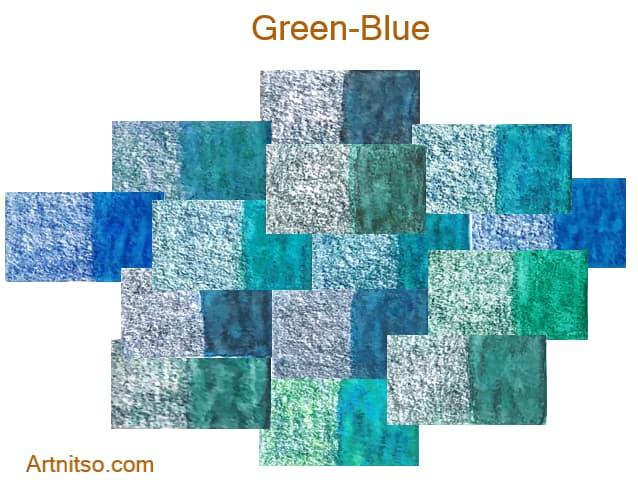 Caran d'Ache Museum 144 colours 12 set - Green-Blue - Artnitso.com