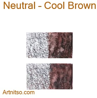 Caran d'Ache Museum 144 colours 12 set - Neutral-Cool Brown - Artnitso.com