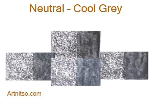 Caran d'Ache Museum 144 colours 12 set - Neutral-Cool Grey - Artnitso.com