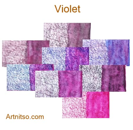 Caran d'Ache Museum 144 colours 12 set - Violet - Artnitso.com