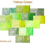 Caran d'Ache Museum 144 colours 12 set - Yellow-Green - Artnitso.com