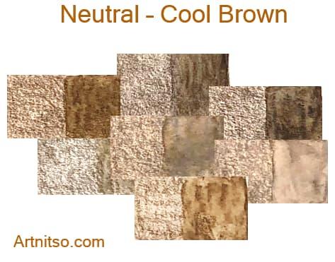 Caran d'Ache Supracolor - 144 colours 12 set - Neutral-Cool Brown - Artnitso.com