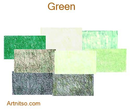 Faber Castell Polychromos set of 12 144 - Green - Artnitso.com