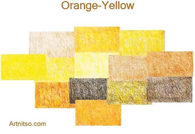 Faber Castell Polychromos set of 12 144 - Orange-Yellow - Artnitso.com