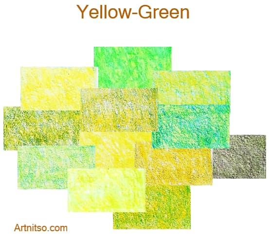 Faber Castell Polychromos set of 12 144 - Yellow-Green - Artnitso.com