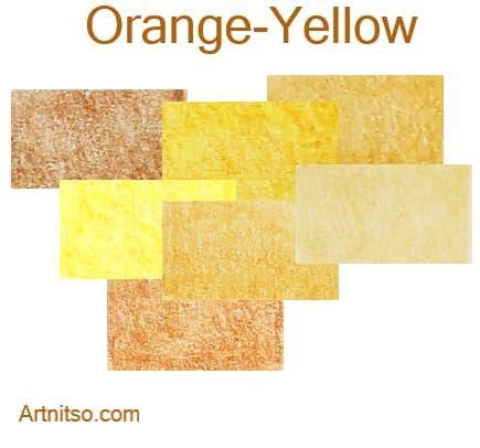 Caran d'Ache Luminance 76 - Orange-Yellow - Artnitso.com