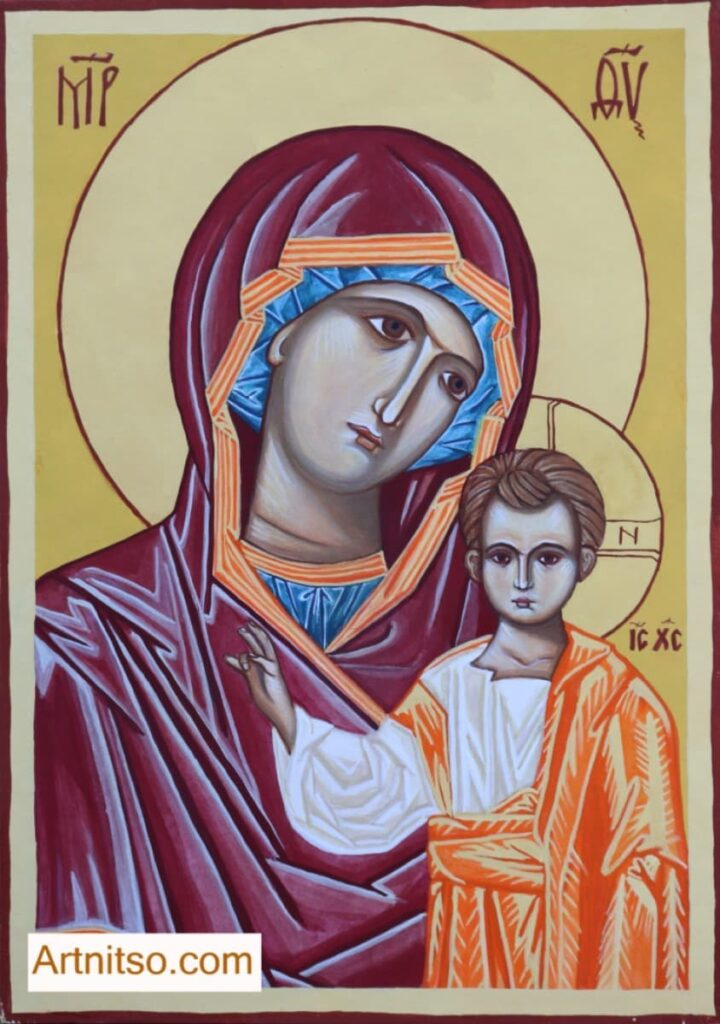 Iconography Mother of God and Child Paper - Artnitso.com