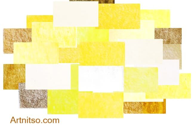 How to substitute pencil colours - Yellow colour swatches - Artnitso.com - Copy