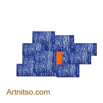 Colour Relationship - Orange Blue Complement Artnitso.com