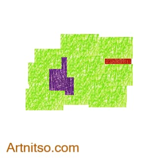 Colour Temperature - Violet-Red-YellowGreen Split Complement Artnitso.com