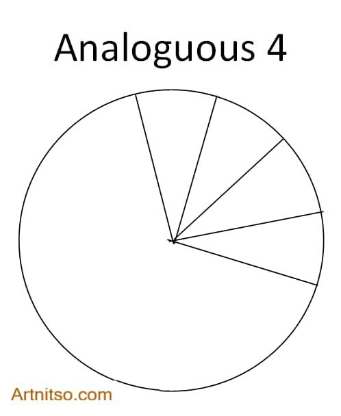 Colour Wheel Colour Relationship - Analoguous 4 - Artnitso.com