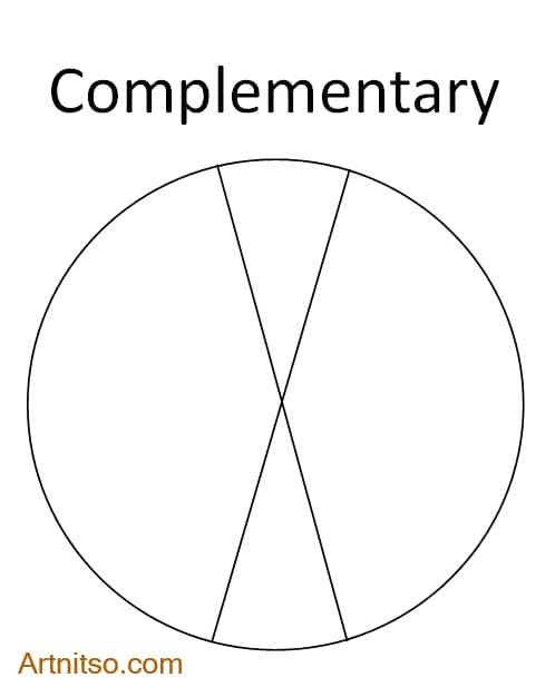 Colour Wheel Colour Relationship - Complementary - Artnitso.com