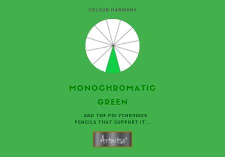 Monochromatic Polychromos Green Number 06 Workbook - Artnitso