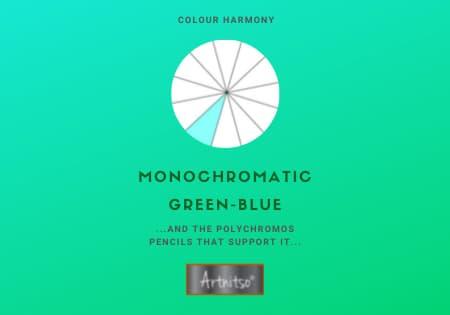 Monochromatic Polychromos Green-Blue Number 07 Workbook - Artnitso