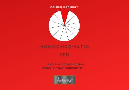 product Monochromatic Polychromos Red Number 12 Workbook - Artnitso